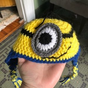 Infant Crocheted Minion Hat